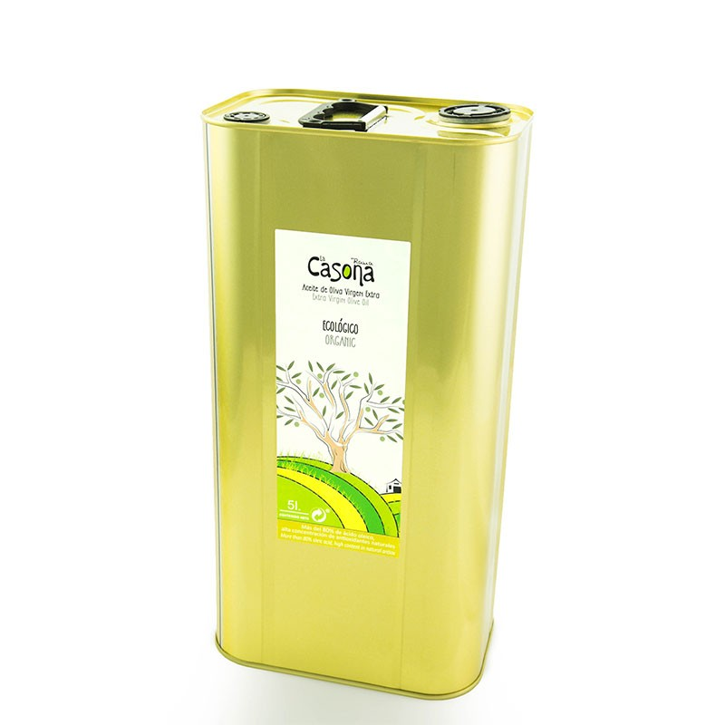 5 l tin can. Organic EVOO special for cooking